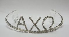 The Alpha Chi Omega Tiara is the perfect gift for an AXO Princess! Check out SororitySpirit.com for a huge selection of ΑΧΩ gifts. We provide fast shipping.
