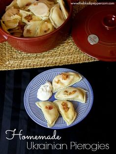 Traditional Ukrainian Pierogies I always thought perogies were polish or slovak, but this is true comfort food from childhood! Traditional Ukrainian Pierogies I always thought perogies were polish or slovak, but this is true comfort food from childhood! Ukrainian Recipes, Russian Recipes, Ukrainian Food, Cabbage Pierogi Recipe, French Recipes, Homemade Perogies, Eastern European Recipes, Polish Recipes, Ukraine