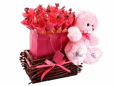 Baby Girl Basket at Chocolates Bouquets | Ignition Marketing Corporate Gifts http://www.ignitionmarketing.co.za/valentines-day