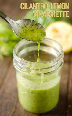 Lemon Vinaigrette - A healthy homemade salad dressing with fresh cilant. Cilantro Lemon Vinaigrette - A healthy homemade salad dressing with fresh cilant. Cilantro Lemon Vinaigrette - A healthy homemade salad dressing with fresh cilant. Yummy Recipes, Vegan Recipes, Cooking Recipes, Yummy Food, Recipes With Lemon, Cooking Ham, Smoker Recipes, Rib Recipes, Recipies