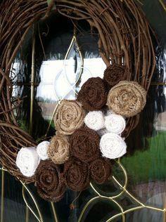 Burlap Removable Wreath Attachment. Sidenote: I've been struggling to spell 'burlap' all day.