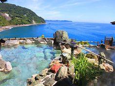 A beautiful seaside onsen (hot spring) in Atami, Japan