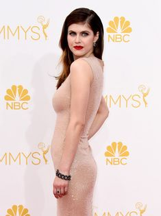 Alexandra Daddario Photos - Actress Alexandra Daddario attends the Annual Primetime Emmy Awards held at Nokia Theatre L. Live on August 2014 in Los Angeles, California. - Arrivals at the Annual Primetime Emmy Awards — Part 2 Hot Actresses, Indian Actresses, Alexandra Anna Daddario, Looks Pinterest, Beautiful Celebrities, Sexy Women, Celebs, Glamour, Lady