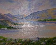 """Glenveagh, Donegal"" by Nuala Holloway - Oil on Board #Donegal #Ireland #NualaHolloway #Artist"
