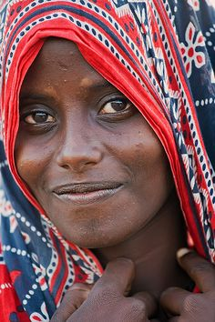 72   Young afar woman