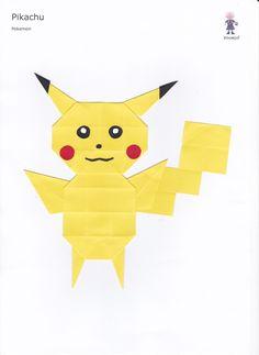 Vouwjuf: 30. Pikachu Pokemon, Pikachu, Origami, Website, Paper, Kids, Fictional Characters, Art, School