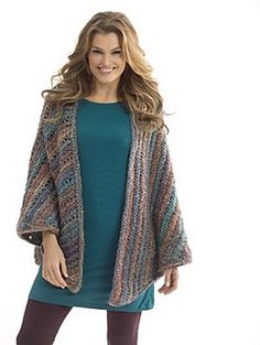 """Lion Brand Yarn: Neck's Best Thing Triangle Shawl - free crochet pattern, free registration required. 846m chunky yarn, 6.5mm hook. Measures: 28.5"""" x 67"""""""