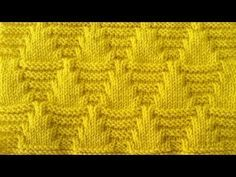 Best 12 This graphic Parallelogram Stitch Pattern creates a modern texture of interconnecting diagonal angles. Cable Knitting Patterns, Knitting Stiches, Knitting Videos, Knitting Charts, Knitting Designs, Knit Patterns, Knitting Projects, Crochet Stitches, Baby Knitting