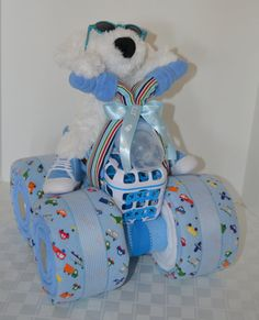 4-Wheeler, Quad, Motorcycle Diaper Cake,  Baby Gift Cake, Centerpiece, Baby Shower Gift,Baby Boy,Motorcycle,Cycle