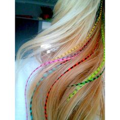 Real Feather Hair Extensions 8 Long Hair Feathers Colorful Bright... ($16) ❤ liked on Polyvore featuring beauty products, haircare, hair styling tools, hair, hairstyles, jewelry, shoes, bath & beauty, black and feather hair extensions