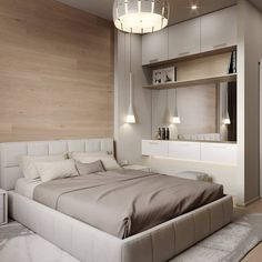 Trendy Bedroom Design For Men Apartments Headboards Bedroom Bed Design, Modern Bedroom Design, Home Decor Bedroom, Home Interior Design, Bedroom Designs, Contemporary Apartment, Trendy Bedroom, Bedroom Romantic, Minimalist Bedroom