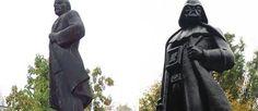 Sinds Oekraïne de actieve propaganda voor communisme en nazisme strafbaar heeft gemaakt heeft artiest Alexander Milov Lenin een volledig ander uiterlijk gegeven. Hij vond namelijk dat het communistische verleden van het land moest verdwijnen. Bovendien is het standbeeld multi-functioneel het is namelijk meteen een wifi hotspot.