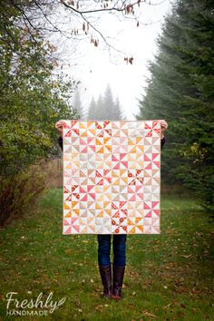 Freshly Handmade: Sugar & Spice Baby Quilt: Finished