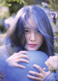 Photo album containing 66 pictures of IU Blue Aesthetic, Aesthetic Photo, Kdrama Actors, Most Beautiful Faces, Cosmic Girls, Love Poems, Korean Singer, Blue Hair, Korean Girl