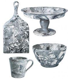 We're Obsessed: Marbled Ceramic Tableware