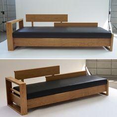 #소파 #원목가구 #sofa #daybed #sofabed Smart Furniture, Wood Furniture, Sofa Bed, Couch, Frock Patterns, Studio Apartments, Beds, Yellow, Home Decor