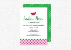 Watermelon Birthday So Sweet   Party Invitation by adelicategift