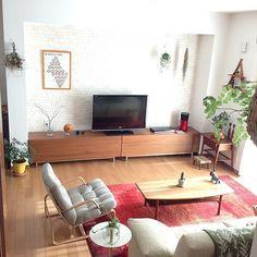 gauさんの、Lounge,ナチュラル,天童木工,北欧,ドライフラワー,エコカラット,ギャッベ,北欧ヴィンテージ,ボーコンセプト,クリッパン×ミナペルホネンについての部屋写真