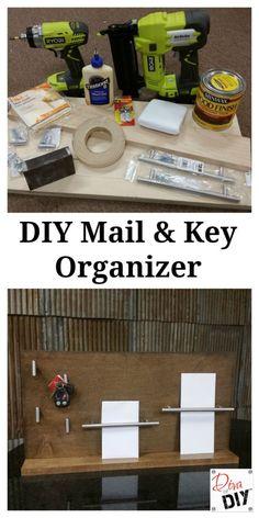 DIY Key and Mail Organizational System -