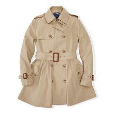 Princess Cotton Trench Coat - Girls 7-16 Outerwear & Jackets - RalphLauren.com