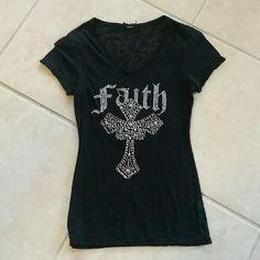 Faith bling shirt Very cute Tops Tees - Short Sleeve