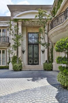 Architecture Luxury Houses | Rosamaria G Frangini || $12 Million Neoclassical Mansion In Beverly Hills, CA. Front Entry