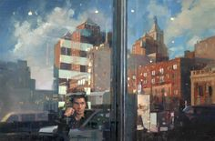 'New York Minute' - oil. One of my new figurative oil paintings.  douglasgray.co.uk  #art #oilpaintings #usa #newyork #nyc