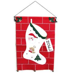Vintage Christmas Wall Hanging 1960's Bucilla by ThirstyOwlVintage