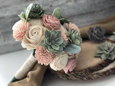Soft Succulent Bouquet - Blush Ivory Pink Sola Wood Flowers - Green - Wood Flowers - Made to Order - Forever Flowers - Wedding Flowers Soft Succulent Bouquet Wooden Flowers Blush Succulent Wooden Flower Bouquet, Sola Wood Flowers, Succulent Bouquet, Small Bouquet, Wooden Flowers, Bouquet Flowers, Boquet, Pink Succulent, May Flowers