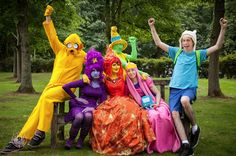 Adventure Time! group cosplay - that Flame Princess looks fantastic! @ Ayacon 2013