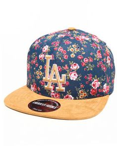 American Needle - Los Angeles Dodgers Off The Vine Strapback Hat (Faux Suede Visor)