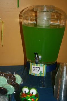 frog themed classroom | Frog themed birthday drink | For the Classroom