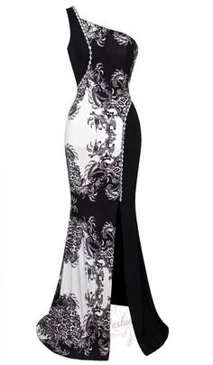 New One Shoulder Sleeveless Colour Mixed Evening Dress S M L XL18 Black in Dresses   eBay