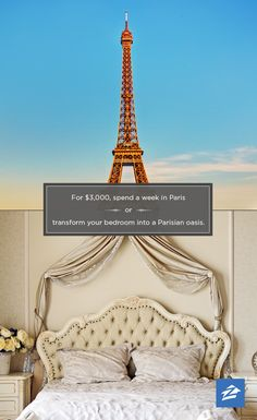 Vacation or staycation? For $3k, you could spend a week in Paris or deck out your bedroom.