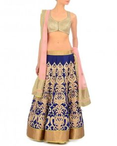 Midnight Blue Lehenga Set with Zari Embroidery JADE -- perfect reception outfit Indian Wedding Fashion, Big Fat Indian Wedding, Indian Bridal Wear, Indian Wear, Indian Fashion, Blue Lehenga, Lehenga Choli, Indian Dresses, Indian Outfits
