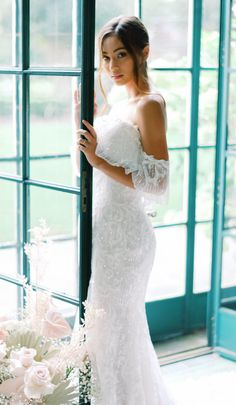Sparkly mermaid wedding dress with off the shoulder sleeve for the boho bride | Maggie Sottero Wedding Dresses- Belle The Magazine #weddingdress #weddingdresses #bridalgown #bridal #bridalgowns #weddinggown #bridetobe #weddings #bride #dreamdress #bridalcollection #bridaldress #dress See more gorgeous bridal gowns by clicking on the photo