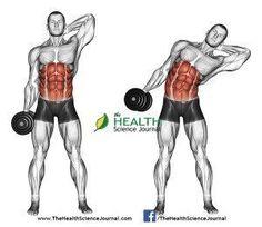 © Sasham | http://Dreamstime.com - Exercising for bodybuilding. Side slopes of standing