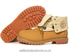 Women's Timberland Roll Top Boots-Wheat Birch £72.80