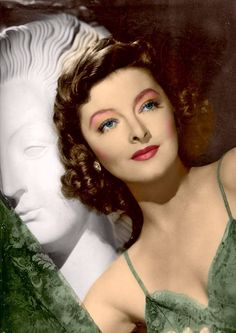 Myrna Loy,great color photo of her!