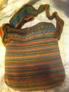 Crochê em lã.