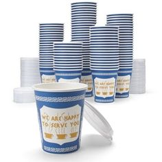 100 Original NY Coffee Cups (with lids)