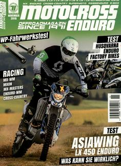 Asiawing LX 450 Enduro. Gefunden in: Motocross Enduro, Nr. 11/2016