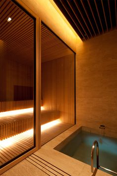 House - Mlinaric, Henry and Zervudachi Home Spa Room, Spa Rooms, Sauna Steam Room, Sauna Room, Pool House Piscine, Sauna Hammam, Sauna House, Piscina Interior, Sauna Design