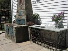 Image result for brick patio seating
