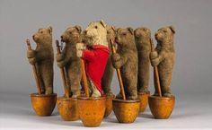 Steiff Pre-Button Bear Skittles Sold by Bonham's in 2004 for four thousand dollars