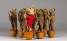 Antique Steiff Skittles bears