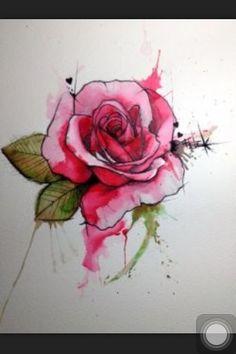 Rose tattoo drawing
