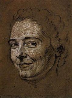 Study for portrait of Mademoiselle Dangeville - Морис Кантен де Латур