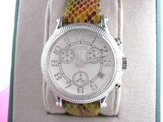 LOVE Chrono Watches for Ladies!!!  This is a Ecclissi Chrono with Moc Croc Leather Band - Sterling Silver Case... Tres Chic! FREE U.S. Ship.