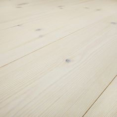 These bright, fresh pine floors are treated with stain and varnish. The varnish has a matt finish that creates the soft feeling of an oiled floor. Wooden Flooring, Wood Paneling, Hardwood Floors, Swedish Design, Scandinavian Design, Pine Floors, First Home, Wood Wall, Vit